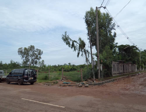 Vacant land for car show room in the heart of Vientiane